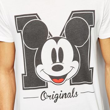 Jack & Jones T-Shirt with Mickey Mouse Originals Print