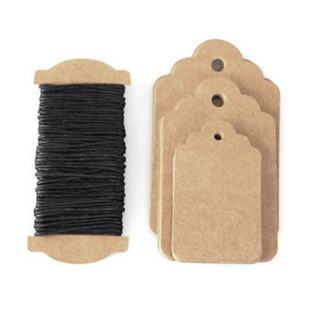 Natural Carboard Tags, 3 Size, 30-pack