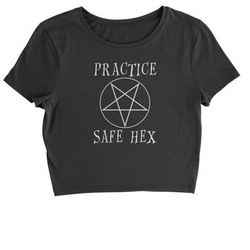 Practice Safe Hex Cropped T-Shirt