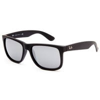 Ray-Ban Justin Sunglasses Black/Grey One Size For Men 25842812701