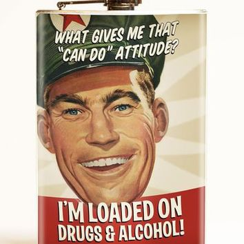 Loaded on drugs & alcohol flask