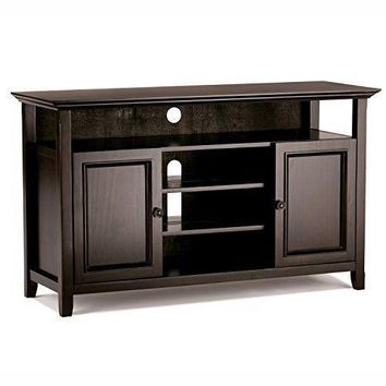 Simple Home Media Stand Tall Tv Dark Television Stands Entertainment Centers