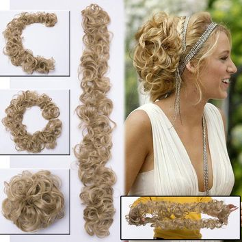 Real Thick Messy Bun Hairpiece Hair Extension Real Natural Scrunchie Scrunchies