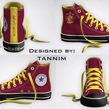 Ready for IMMEDIATE Shipping: Harry Potter - House Gryffindor Converse Chucks Size 4.5 Mens (6.5 Womens)