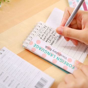 Cute Super Panda Recite Words Learning Foreign Language Vocabulary Memo Pad Planner Student Stationery School Supplies