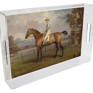 The Race Horse Lucite Tray
