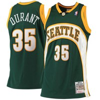 Men's Seattle SuperSonics Kevin Durant Mitchell & Ness Green Road 2007/08 Hardwood Classics Authentic Jersey