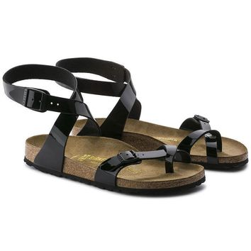 Birkenstock Woman Men Fashion Buckle Sandals Flats Shoes-2