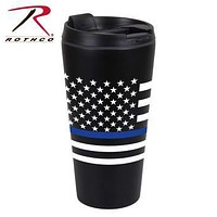 Thin Blue Line Flag Travel Mug