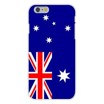Apple iPhone 6 Custom Case White Plastic Snap On - Australia - World Country National Flags