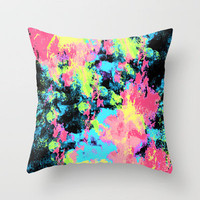 Blacklight Neon Swirl Throw Pillow by Caleb Troy | Society6