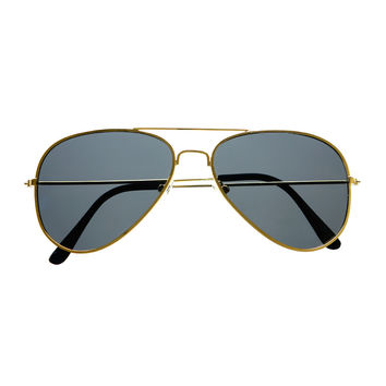 Premium Polarized Anti Glare Lens Pilot Metal Aviator Sunglasses A1490