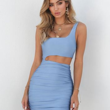Buy Our Ava Dress in Blue Online Today! - Tiger Mist