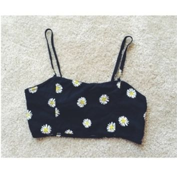 Brandy melville daisy cropped top
