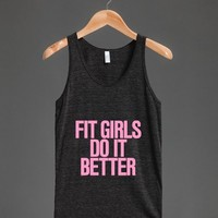 Fit Girls do it Better Pink Typography