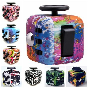 24 Styles Squeeze Fun Stress Reliever Fidget Cube Rcamouflage Anxiety Stress Juguet For Adult Original Maigic Cube Desk Spin Toy