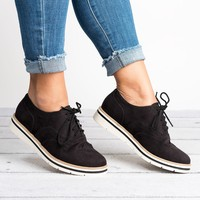 Lace Up Perforated Oxfords