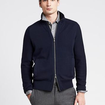 Banana Republic Mens Navy Full Zip Sweater Jacket