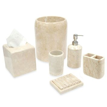 Spa Stone Champagne Marble Bath Ensemble
