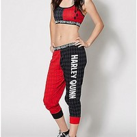 Harley Quinn Sports Bra Jogger Set - Spencer's