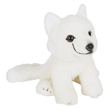 9 Inch Stuffed Arctic Fox Plush Floppy Animal Kingdom Collection