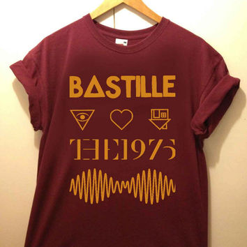artic monkey bastile the 1975 tshirt for merry christmas and helloween