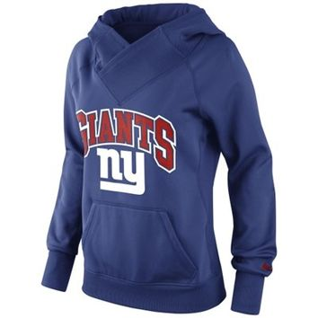 Nike New York Giants Ladies Wildcard Pullover Performance Hoodie - Royal Blue