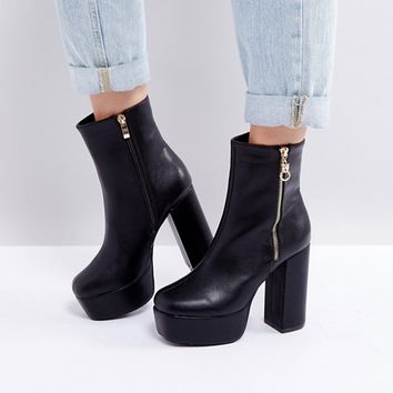 Boohoo Chunky Platform Ankle Boot at asos.com