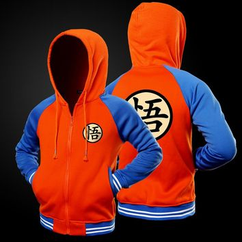 New Dragon Ball Z Hoodie Sweatshirt Men 2017 Fashion Fleece Japanese Anime Goku Mens Hoodies and Sweatshirts Jacket Coat