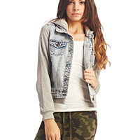 Fleece & Denim Jacket | Wet Seal