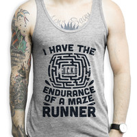 Endurance of a Maze Runner on an Athletic Grey Unisex Tank Top