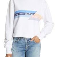 rag & bone/JEAN Glitch Crop Sweatshirt | Nordstrom