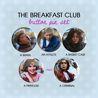 The Breakfast Club Button Pins (Set of 5)