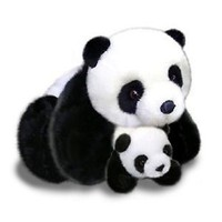 Plush Panda Bear Mother And Baby Panda Bears 17""