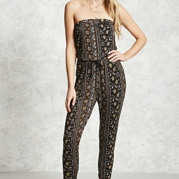 Ornate Pattern Jumpsuit