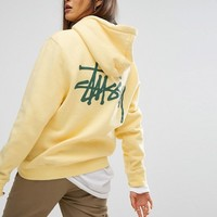Stussy Long Sleeve Hoodie With Pocket And Back Print at asos.com