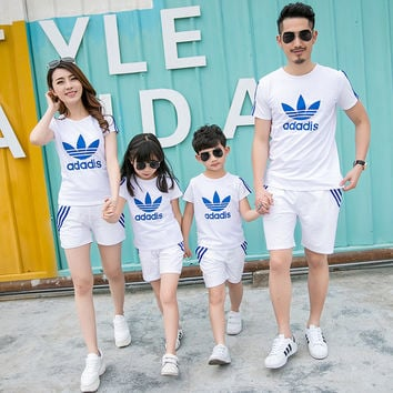 Family Matching Outfit Active Family Clothing Mother and Daughter Matching Clothes Father Son Clothes Family Clothing Sets HH08