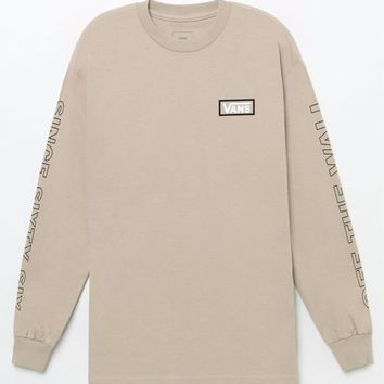 Vans Checkdown Long Sleeve T-Shirt - sand | PacSun