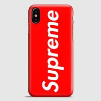 Supreme New York Clothing Skateboarding iPhone X Case