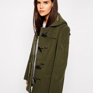 Gloverall Swing Duffle Coat - Olive