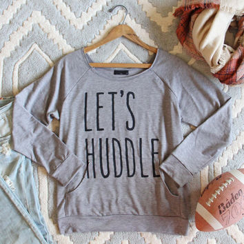 Let's Huddle Cozy Sweatshirt