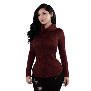 EV 25 Fairy Store Hot Selling Drop Shipping Knitted Long Pullover Long Sleeves Casual Sweater Women Autumn Winter Tops