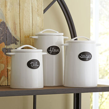 Birch Lane Chalkboard 3 Piece Canister Set