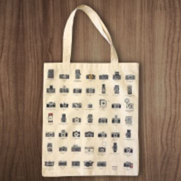 A Visual Compendium of Cameras Tote Bag