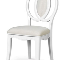 Magnussen Gabrielle Desk Chair, Snow White Finish - Transitional - Armchairs And Accent Chairs - by Warehouse Direct USA
