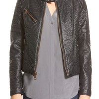 Women's Marc New York 'George' Faux Leather Moto Jacket,