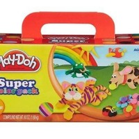 Play-Doh Modeling Compound 10-Pack Case of Colors, Non-Toxic, Assorted Colors, 2-Ounce Cans, Ages 2 and up, (Amazon Exclusive)