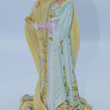 Lenox Rapunzel Figurine Vintage The Legendary Princesses Collection Fine Porcelain Japan Figure Fairy Tale Princess Gift for Her