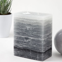 Shades of Gray | Two Wick Pillar Candle
