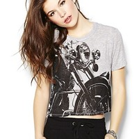Motorcycle Cropped Tee